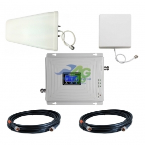 Комплект посилення зв'язку GSM/3G/4G LTE 900/1800 МГц з підсилювачем Lintratek KW20C-GDW (мобільний зв'язок + 3G і 4G інтернет)
