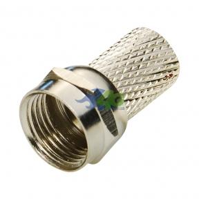 Высокочастотный разъем F-male для кабеля RG58