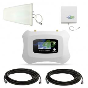 Комплект усиления связи GSM/4G LTE 1800 МГц с усилителем ATNJ AS-D1 и панельной антенной усилением 10 Дб (мобильная связь и 4G интернет)