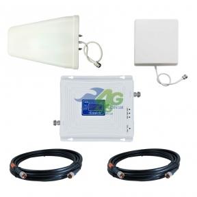 Комплект усиления связи GSM/3G/4G LTE 1800/2100 МГц с усилителем Lintratek KW20C-DW (мобильная связь + 3G и 4G интернет)