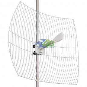 Параболическая 3G/4G LTE MIMO антенна Kroks KNA27-1700/2700 усилением 27 dBi (1700-2700 МГц)