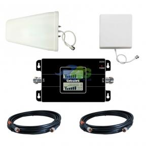Комплект усиления связи GSM/4G LTE 900/1800 МГц с усилителем Lintratek KW17L-GD (мобильная связь и 4G интернет)