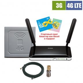 Комплект беспроводного 3G/4G интернета InterGSM Home Internet D4