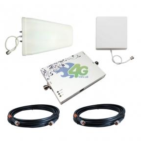 Комплект посилення зв'язку GSM / 4G LTE 1800 МГц з підсилювачем Lintratek KW25F-DCS