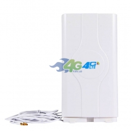 Антенна комнатная 4G LTE MIMO 800-2600 МГц усилением 9Дб переходник TS9 (Киевстар, Vodafone, Lifecell)
